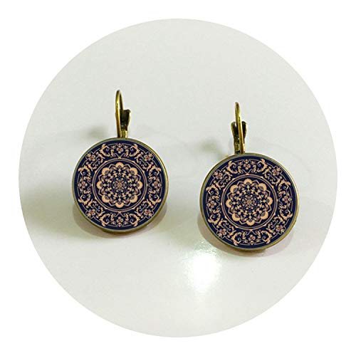 Silver Color JewelryCharm Earrings Buddhism Zen Online Shopping India,bronze
