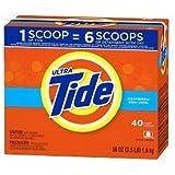 Tide Ultra Powder Laundry Detergent, 40 Loads, Clean Breeze, 56 oz