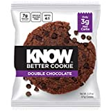 KNOW Foods Cookie, High Protein, Low Net Carb, Grain Free, Dairy Free, Gluten Free (Double Chocolate)