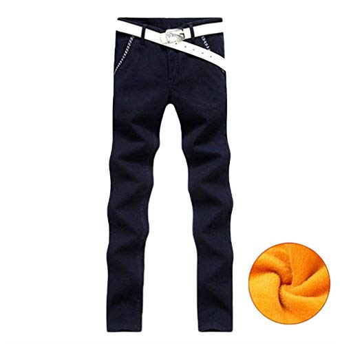 In Pantaloni Fit Abbigliamento Autunno Libero Denim Per inverno Da Uomo Termici Stretch Il Tempo Jeans Slim Nero pqS4qI