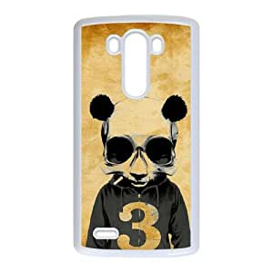 crazy panda full hd LG G3 Cell Phone Case White custom made pgy007-9980870