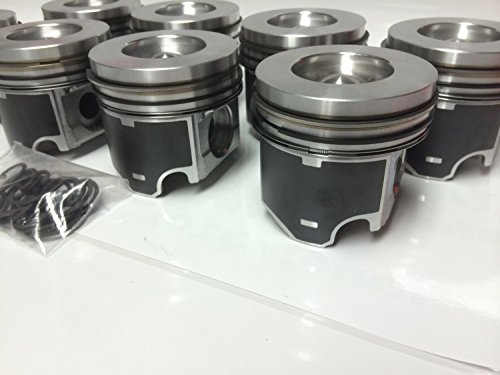 Mahle 6.0 6.0L Diesel .020 Over Pistons set 8 Ford ...