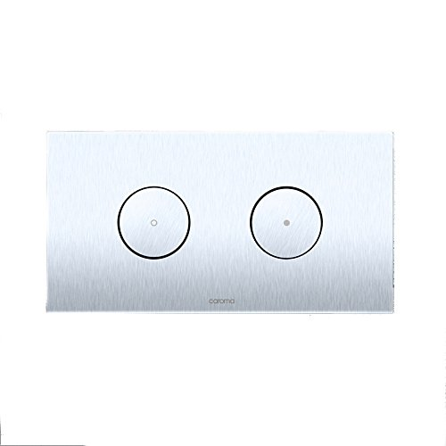 Caroma 237010W Invisi Rectangle Dual Flush Plate with Rou...