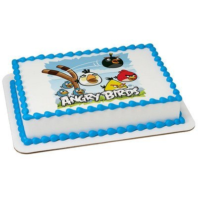 Angry Birds Licensed Edible Cake Topper #7496]()