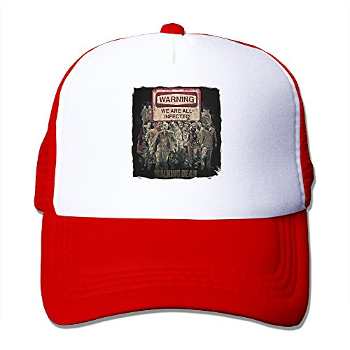 Price comparison product image XJBD Unisex-Adult Dead Walk We Are All Infected Hip Hop Hats Caps Red