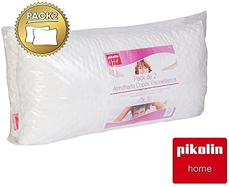 PIKOLIN Pack de Dos Almohadas Copos Viscoelástica Home (Pillow) 70 ...