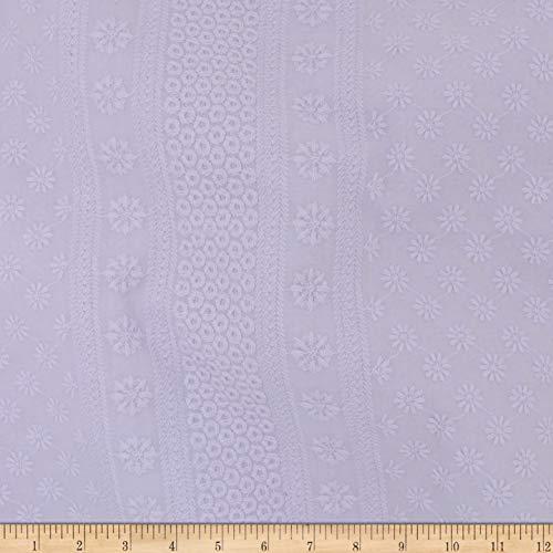 Telio Capulet Cotton Eyelet Fabric, Lilac, Fabric By The Yard