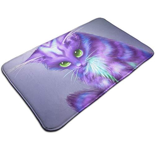HengZhe Door Mat Fantasy Cat Entrance Rug,Fade Resistant Floor Mats,Slip-Proof Bathroom Mat,Shoes Scraper Carpet,19.5x31.5x0.47 Inches]()