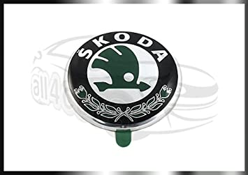 Insignia original Skoda Octavia Fabia para portón trasero, capó, o puerta del maletero: Amazon.es: Coche y moto