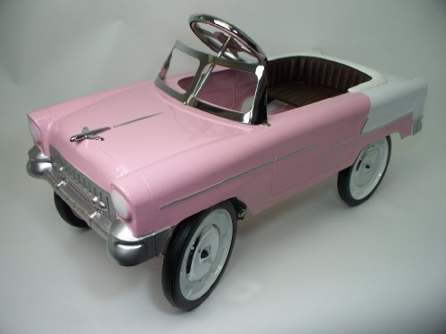55 classic Pink and White Pedal Car (Pedal Cars Reproduction)