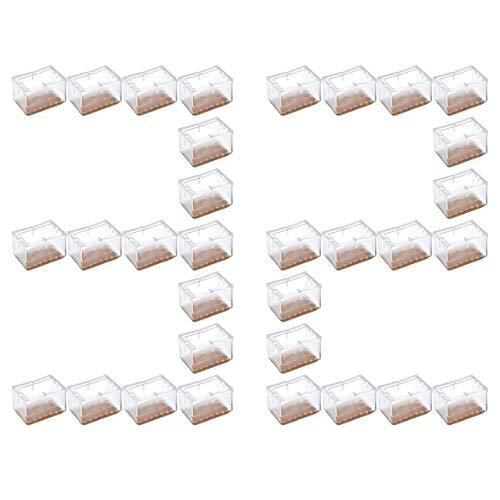 CozyCabin 32 Pcs Rectangular Chair Leg Pads Protection Furniture Floor Protectors Table Leg Covers (32 pcs,Rectangle)