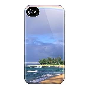 XRW29312yiwp Snap On Cases Covers Skin For Iphone 6(rainbow Beach)