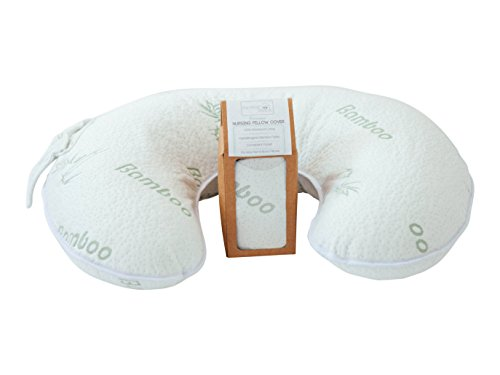 Premium Bamboo Nursing Pillow Slipcover ♥ 100% Waterproof ♥ Soft Hypoallergenic Cover ♥ Fits Breastfeeding Pillows ♥ Convenient Poc