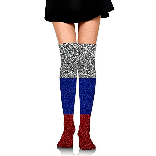 Leather Texture Slovenian Flag Casual Crew Top Socks,Tube Thigh-High Nursing Compression Long Socks,3D Printed Sports For Girls&Women]()