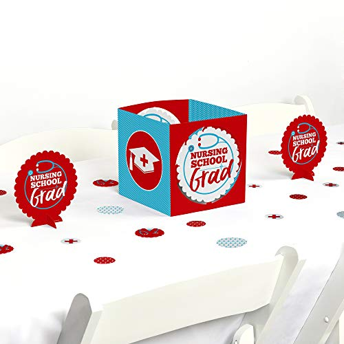 Big Dot of Happiness Nurse Graduation - Medical Nursing Graduation Party Centerpiece and Table Decoration Kit -