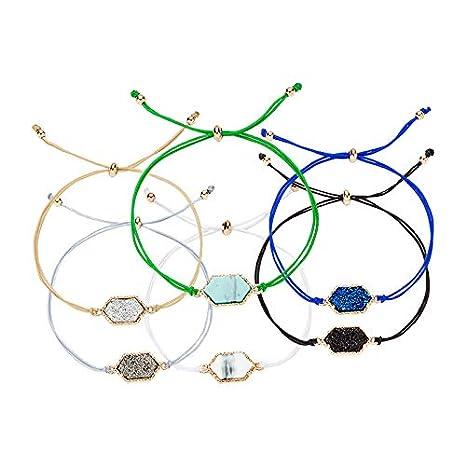 Shuda Pulsera Brazalete Mujer Cuerda Pulsera Adjustable Joyas para Nni/ñas de Joyer/ía para su Regalo del Ideal como Regalo de cumplea/ños Amistad o San Valent/ín 1Pcs