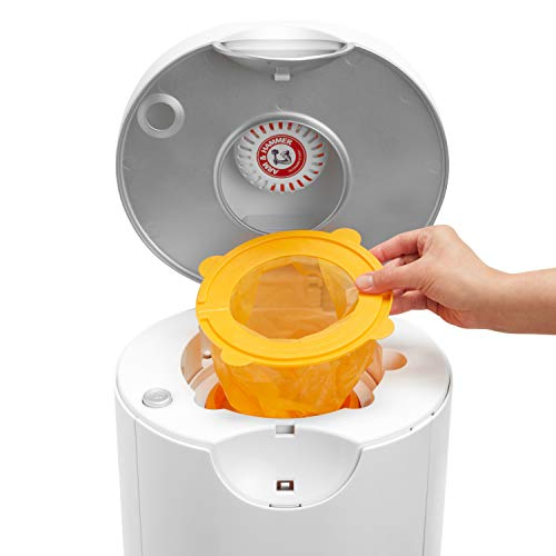 41ri5TmXmuL - Munchkin Arm & Hammer Diaper Pail Snap, Seal And Toss Refill Bags, Holds 600 Diapers, 20 Count