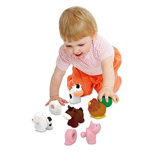 41ri5WsVzAL - Melissa & Doug Pop Blocs Farm Animals Educational Baby Toy - 10 Linkable Pieces