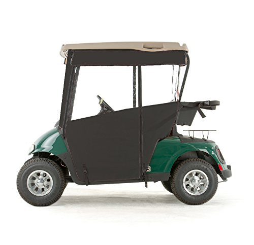 EZGO RXV Golf Cart PRO-TOURING Sunbrella Track Enclosure - Black-BLK