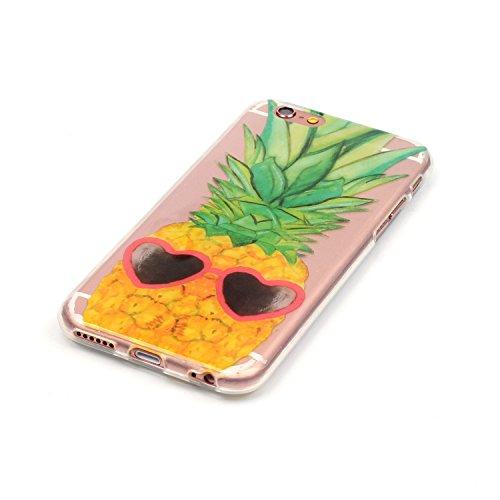 """Hülle iPhone 6 / 6S , LH Ananas Tasche Schutzhülle TPU Weich Muschel Silikon Handyhülle Schale Cover Case Gehäuse für Apple iPhone 6 / 6S 4.7"""""""