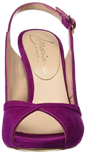 Calzados Marian 54412, Sandalias con Punta Abierta para Mujer Rosa (Purpura)
