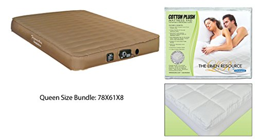 Automatic Sleeper Sofa Queen Size Air Mattress for RV Sofa Bed Guest and Sofa Mattress WithThe Cotton Plush Natural & Breathable Mattress Pad Queen Size Easy To Set Up Automatic Inflate and Deflate ()