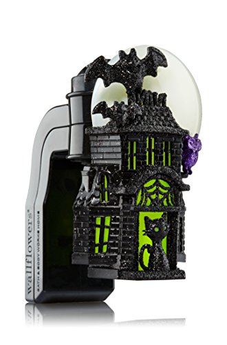 - Bath and Body Works Wallflower Fragrance Plug Large Haunted House Halloween Nightlight with Bat, Skeleton Cat and Jack o'Lantern Pumpkins