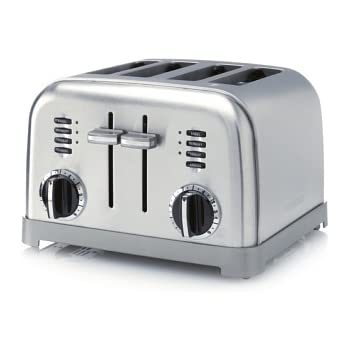 Amazon Cuisinart Electronic 4 Slice Steel Toaster Kitchen