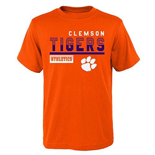 Gen 2 NCAA Clemson Tigers Kids & Youth Boys Sonic Boom Basic Tee, Kids Medium(5-6), Orange by Gen 2