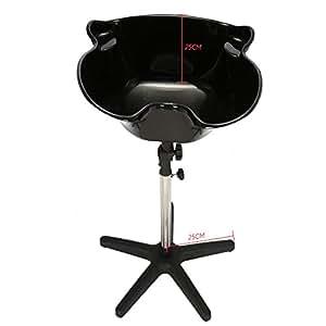 Docooler Portable Hair Salon Shampoo, Sink Spa Deep Shampo,o Bowl Basin Adjustable Height with Drain
