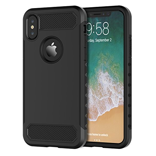 Shamos case for iPhone XS Case and iPhone X, Armor Rugged Heavy Duty Military Grade Protective Cover Dual Layers