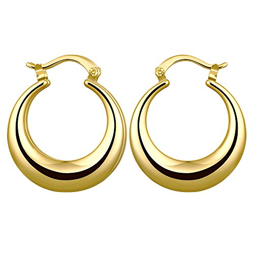 Huggie Hoop Earrings,Hypoallergenic Fashion14K Yellow Gold/Rose Gold Plated Stud Hoops For Women Girls,Wedding Enagement Party Birthday Gift (Gold) ()