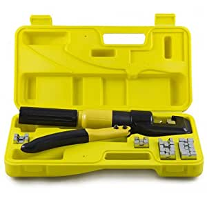 safstar 5 ton hydraulic wire terminal crimper battery cable lug crimping tools dies. Black Bedroom Furniture Sets. Home Design Ideas