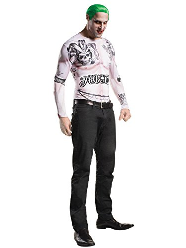 Rubie's Costume Co. Men's Suicide Squad Joker Costume Kit, As Shown, TEEN (Joker Costumes Makeup)