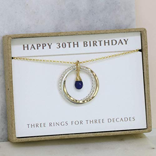 Amazon 30th Birthday Gift September Birthstone Necklace For Daughter Wife