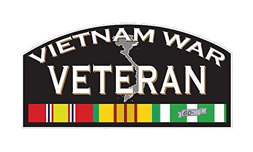 Vietnam Window - Veteran Vietnam War Stickers Decals for Cars Vet 7