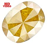Natural Loose Diamond Oval Yellow Coffee Color I3 Clarity 9.50X7.30X3.20 MM 2.07 Ct L5702