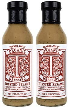 - Trader Joe's -Organic Toasted Sesame Dressing NET 12 FL OZ - 2-PACK