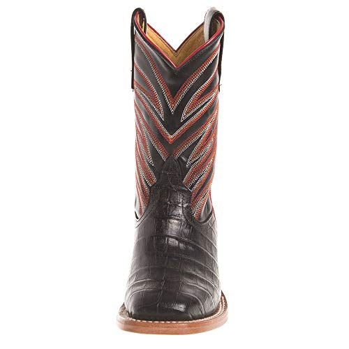 Anderson Bean Boys Kids Caiman Print Cowboy Boots 11 Black by Anderson Bean (Image #1)