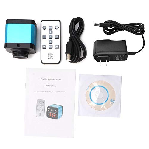 14MP HDMI 1080P HD USB Digital Industrial Camera Sensor Pixel Microscope Industrial Camera Set TF Card Video Recorder 100-240V(US Plug)