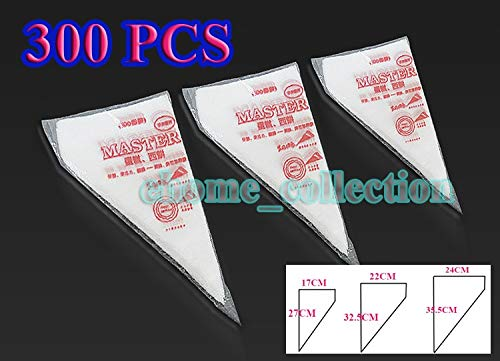 Piping Bags 3 Size 300 PCS/SET Christmas Cake Pastry Cupcake Decorating Bags Disposable Piping Bag Kitchen Accessories by Piping Bags (Image #6)
