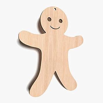 AYOT 10 x Lebkuchenm/ännchen MDF-Holz blanko f/ür Weihnachten Basteln Dekorationen Geschenkanh/änger