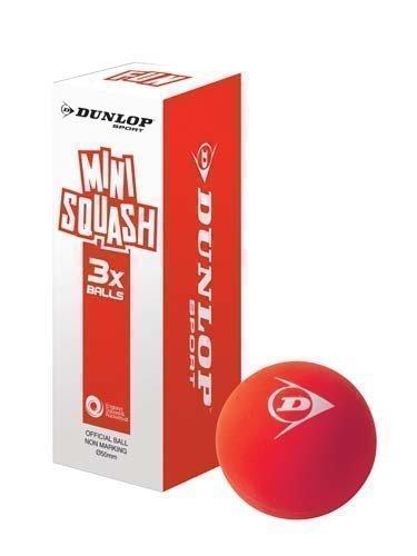 Dunlop-Balles de Mini Squash Amusant pour jouer à des jeux de Racquetball-Rouge-Lot de 3