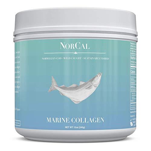 Norcal Organics Marine Collagen Peptide Powder, 16oz | Type 1 and 3, from Norwegian Wild Cod Fish | Natural, Keto, Paleo