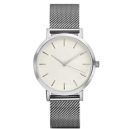 LILICAT-Reloj Relojes de Pulsera clásicos para Hombres Relojes Casual de Cuarzo para Correa de