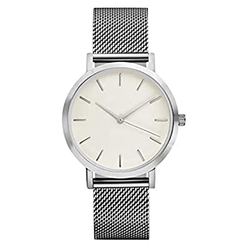 Reloj de Pulsera para Mujer Reloj de Pulsera clásico de los Hombres de la Mujer Correa de Acero Relojes Casuales Correa de Cuero Absolute: Amazon.es: Ropa y ...