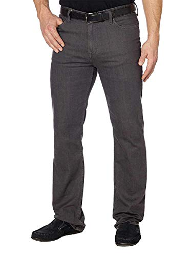 (Calvin Klein Jeans Mens 30W x 30L Herringbone 5 Pocket Slim Straight Jean, Grey)