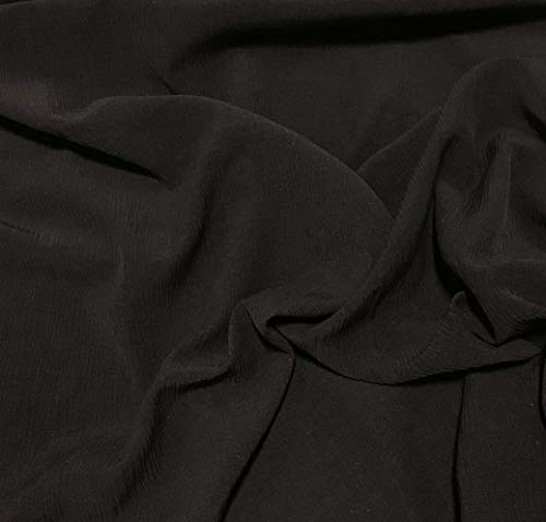 (Chocolate Brown - Crinkle Silk Georgette Fabric)