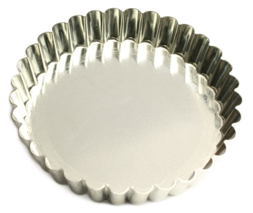 Sci Scandicrafts Fluted Tart - SCI Scandicrafts Fluted Tart/Quiche Mold, Fixed Bottom 5.5-inch Diameter, Tinplate