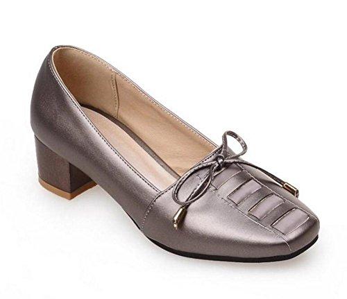 XIE Zapatos para Mujer de la corteFue con el Talón el Arco en los Zapatos Ocasionales Frescos Pequeños, Blue, 39 GRAY-38